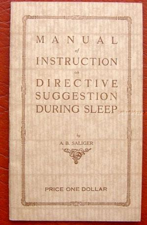 Psycho-phone Manual of Instruction on Directive Suggestion During Sleep