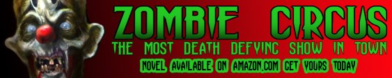 Zombie Circus Novel Banner