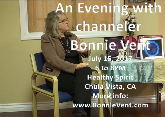 Bonnie Vent Live Events at the Healthy Spirit