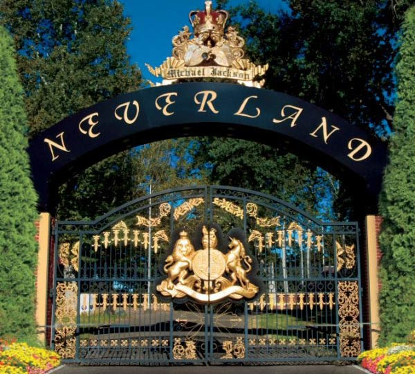 Neverland Ranch gate